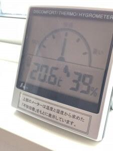 内20.6 湿度39%  29