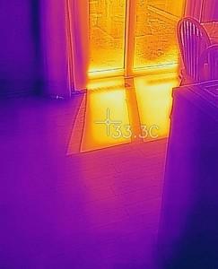 日射影の温度トリプルガラス